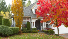 Residential Home During Fall S...