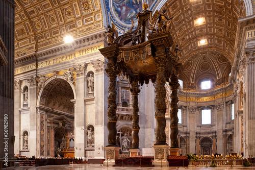 Baldacchino del Bernini San Pietro Roma Canvas Print