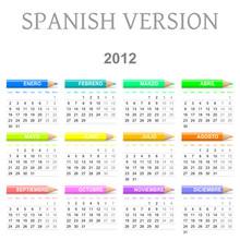 2012 Spanish Vectorial Calenda...