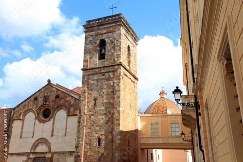 Fotografie, Obraz  Cathedral building historic centre of Iglesias  Sardinia  Italy