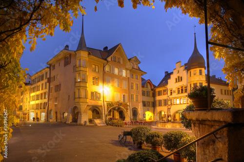 Fotografía  Biel/Bienne at night, Switzerland
