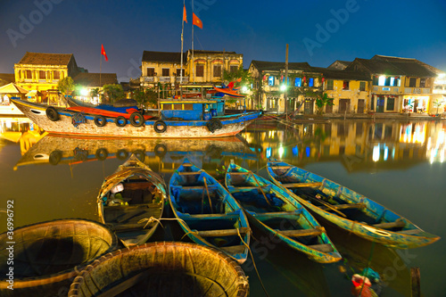 Night shot of Hoi An. Vietnam