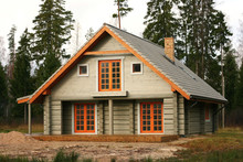 Log Lodge In The Woods
