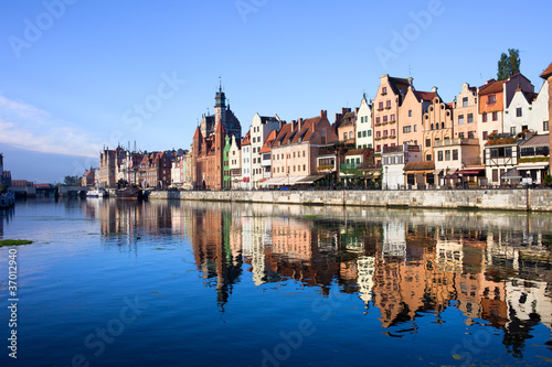 Gdansk Old Town and Motlawa River