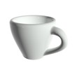 3d rendering white tea cup isolated on white without shadow