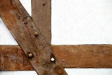 Fachwerk Holzbalken