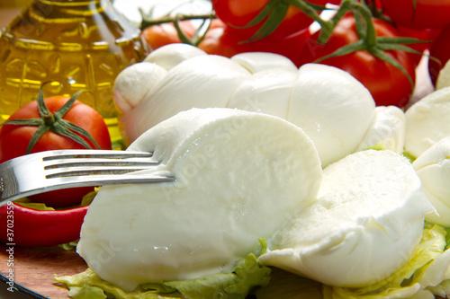 Cuadros en Lienzo mozzarella fresca