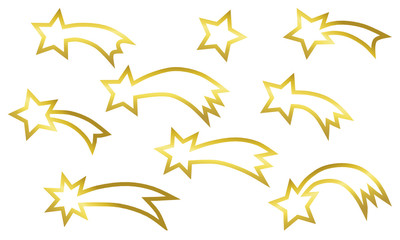golden shooting stars
