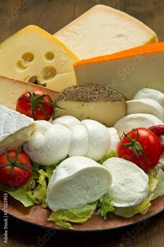Staande foto Zuivelproducten tagliere formaggi misti