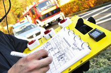 Feuerwehrmann Atemschutz Atemschutzüberwachung