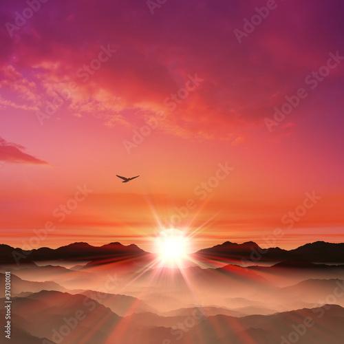 日の出 Fototapete