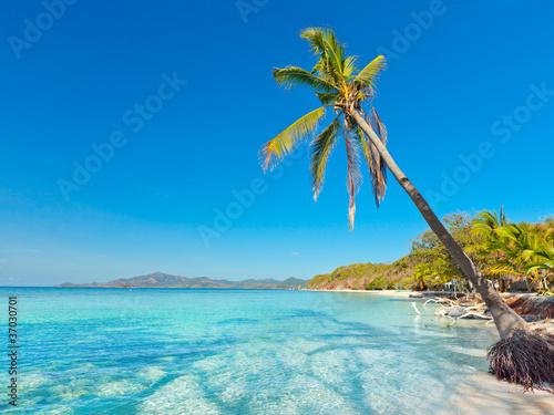 Deurstickers Tropical strand Tropical beach Malcapuya