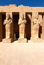 Pharaoh Statues In Karnak Temple