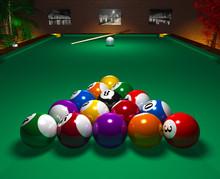 Billiard Table In Club