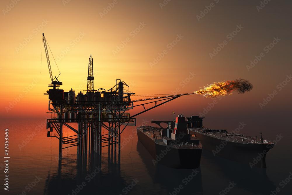 Fototapety, obrazy: Oil Rig