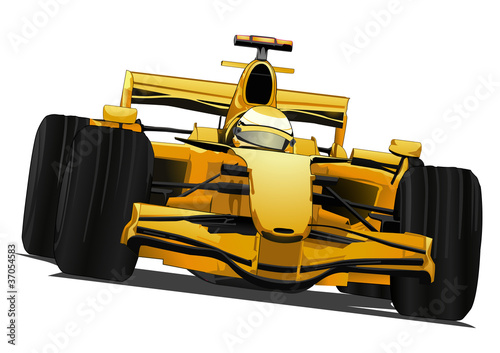 Photo Stands Fast cars formula one racing car