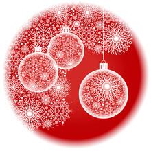 Christmas Ball Red Round