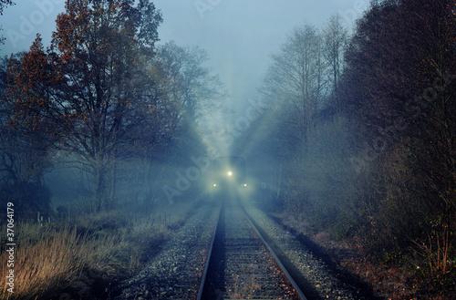 Poster Voies ferrées Train in Fog