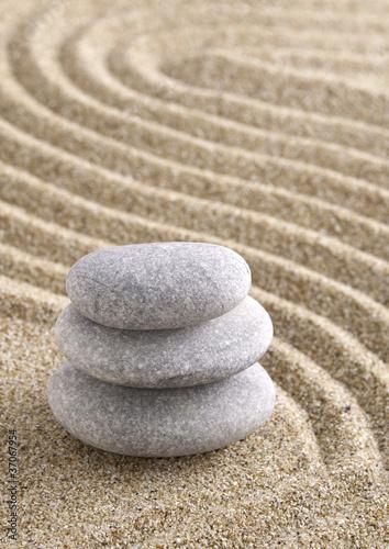 Tuinposter Stenen in het Zand Zen
