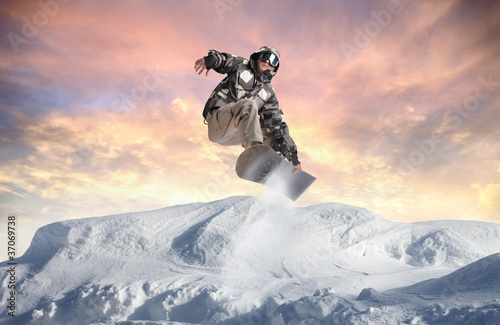 Fotografie, Obraz  Winter acrobatics