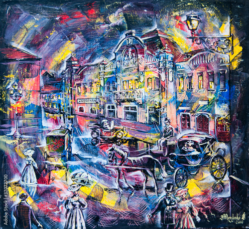 obraz-graficzny-miasta-naftowego-nocy