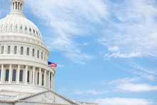 United States Capitol Building With Copy Space