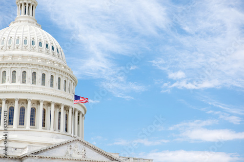 Valokuva  United States Capitol Building with copy space