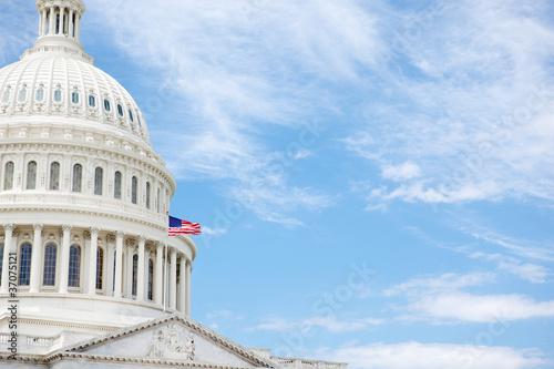 Fotografia, Obraz  United States Capitol Building with copy space