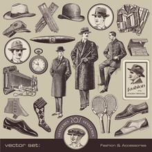 Vector Set: Gentlemen's Fashio...