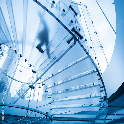 Photo Stands Stairs futuristic glass staircase
