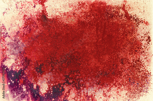 red stain Tablou Canvas