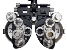 Optometrist Diopter. White Bac...