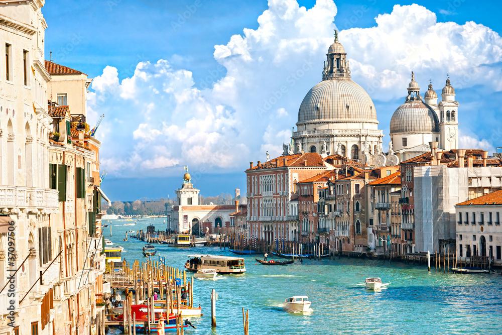 Fototapety, obrazy: Venice, view of grand canal and basilica of santa maria della sa