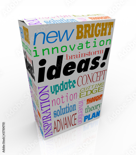 Fotografie, Obraz  Ideas Product Box Innovative Brainstorm Concept Inspiration