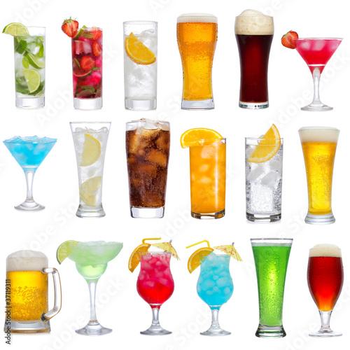 Fotografía  Set of different drinks, cocktails and beer