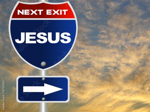 Slika na platnu Jesus road sign