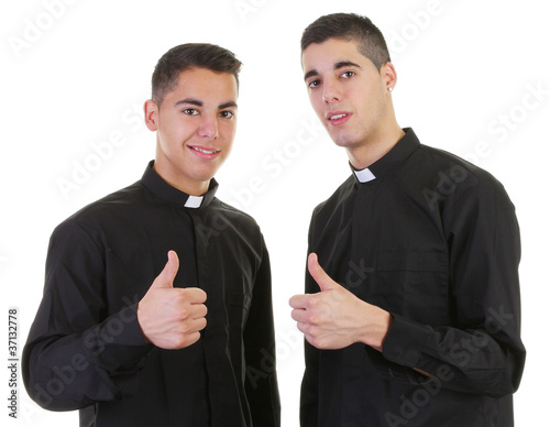 Fotomural Thumbs up priest