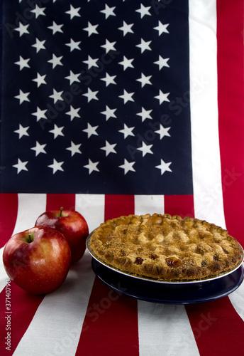 Photo  American Apple Pie Concept