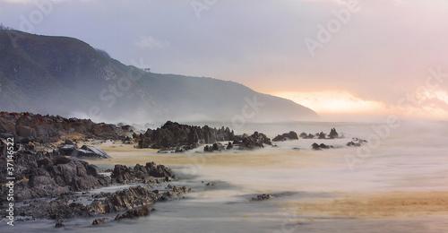 Poster Afrique du Sud Tsitsikamma bei Sonnenaufgang morgengrauen