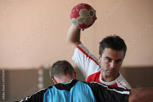 man playing handball
