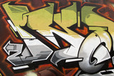 Arte urbano. Detalle de un graffiti en una pared