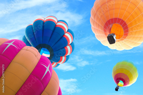 Recess Fitting Balloon colorful hot air balloon with beautiful blue sky and cloud