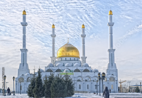 Nur-Mosque Astana Canvas Print