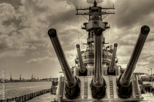 Canvas Print Battleship Missouri