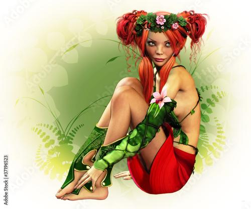 La pose en embrasure Fées, elfes Elven Maiden