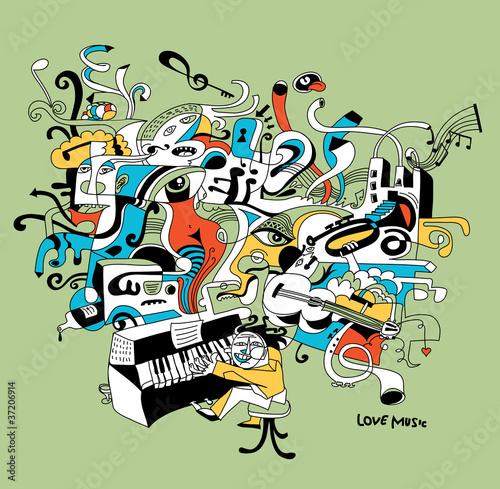 tworcze-ilustracja-muzyk-grajacy-na-fortepianie