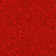 Red Christmas Snowflakes Texture Vector Seamless Pattern