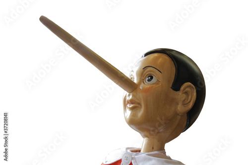 Obraz na plátně Head of Pinocchio,Pinokio,Buratino,isolated,View 3