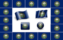 New Hampshire State Flag Of Am...