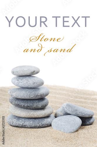 Deurstickers Stenen in het Zand Stones on sand